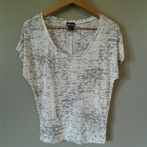 WETSEAL Semi Sheer T Shirt Tappered Blouse Small